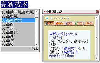 中日辞書ビュア