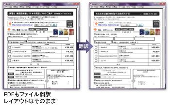 PDFもファイル翻訳。レイアウトはそのまま